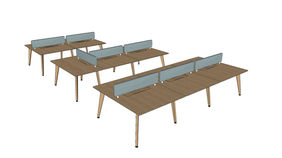 Theodore Bench Desk System by Liqui