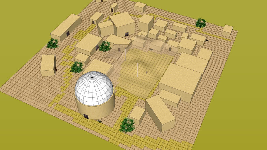Desert City Market Encounter Map