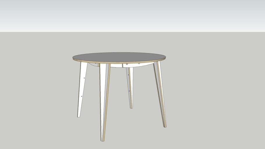 MACIEK 100x75 table by Tabanda - white