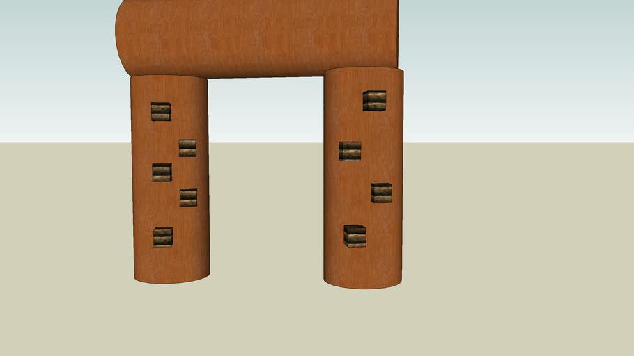 Wooden Balance Beam #1
