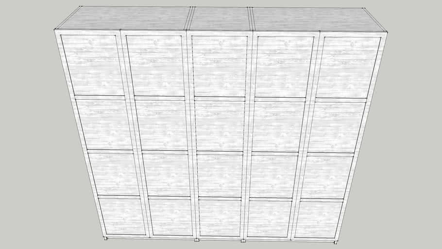 Pax Struttura Per Guardaroba.Ikea Pax Hemnes 3d Warehouse