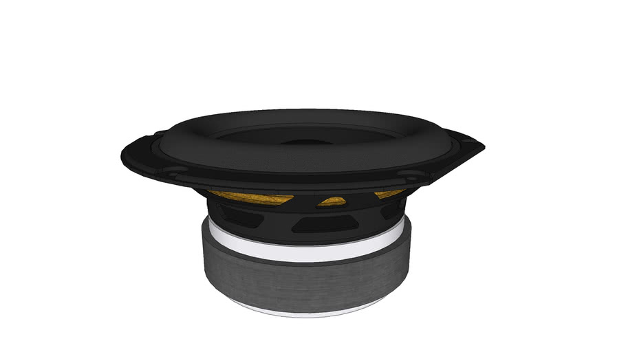 "Peerless SLS 6.5"" Subwoofer - Peerless by Tymphany 830946 6-1/2"" Paper Cone Woofer Speaker 4 Ohm"