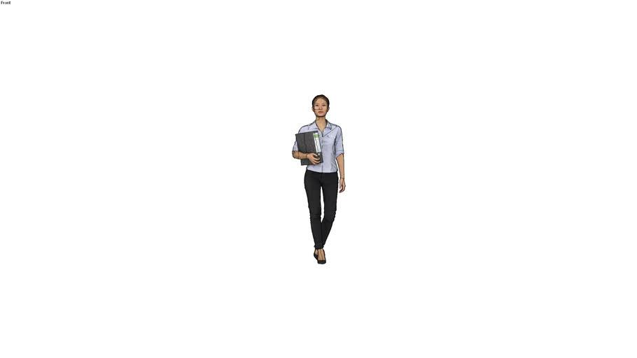 Renderpeople - Mei Posed 001 - 3D Office Woman