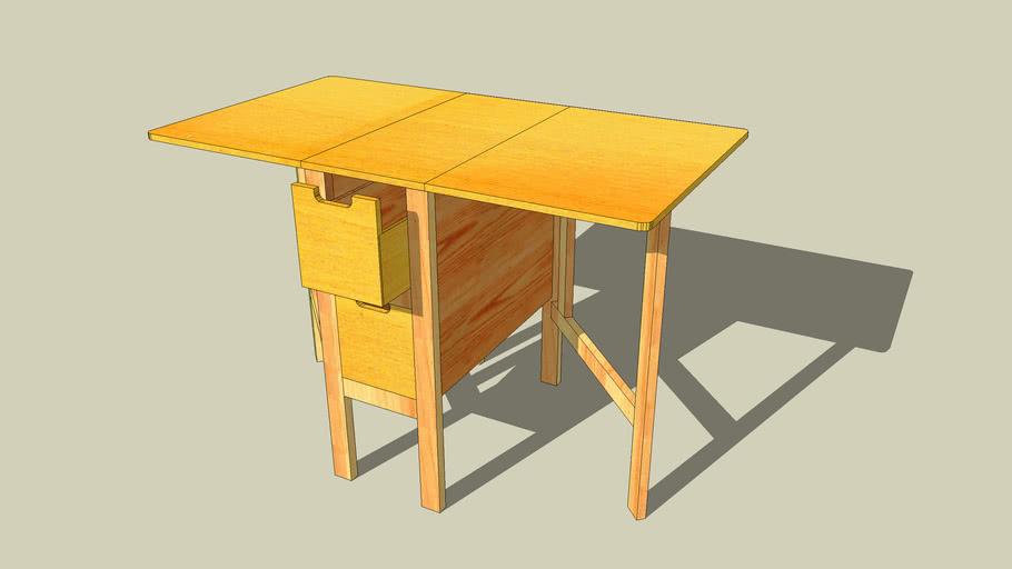 Mesa abatible con cajones