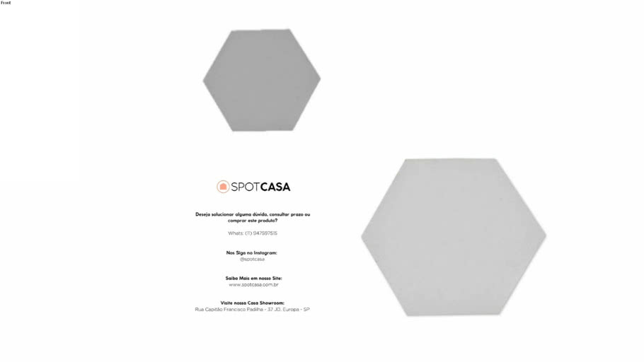 Revestimento Cimentício Hexagonal Gauss Floke GFL030