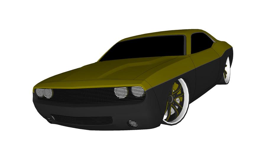 Dodge Challenger gold/black