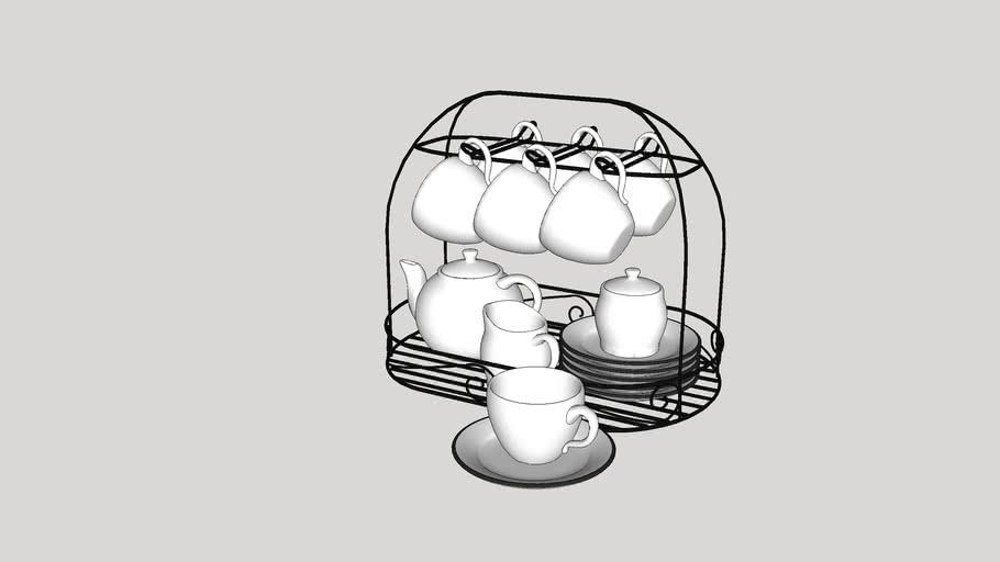 Utensílios de cozinha - conjunto de xícaras