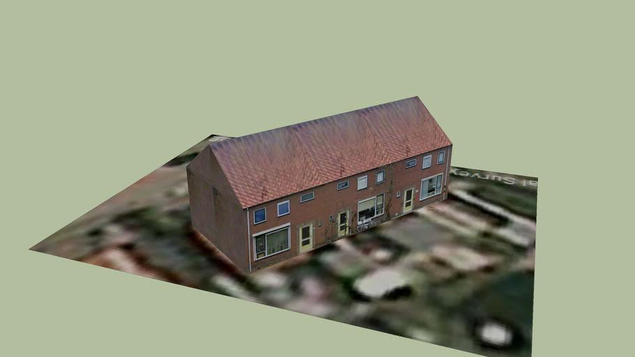 Huizen aan Litjen Mulderstraat, Lemmer