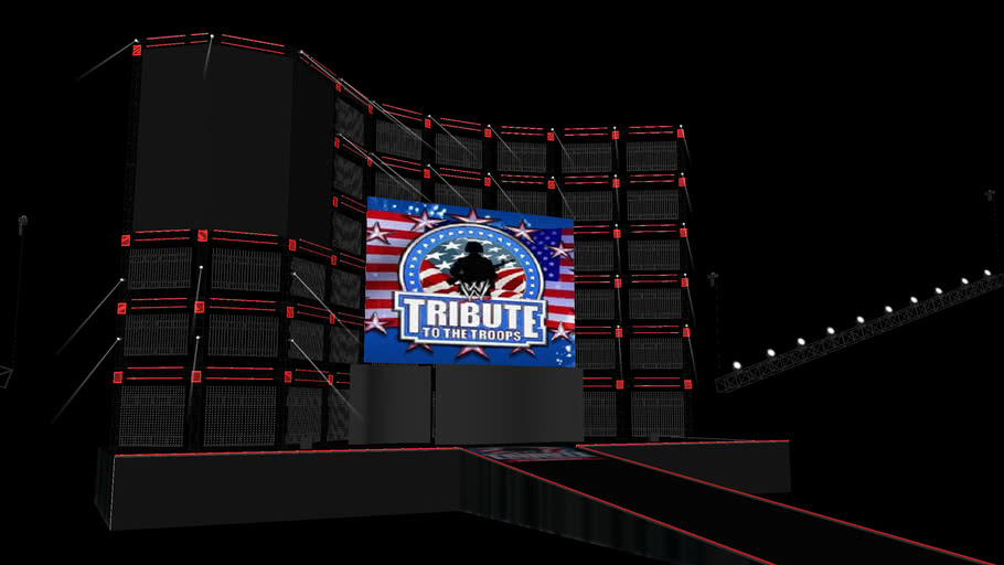 WWE Tribute To The Troops 2012 Stage