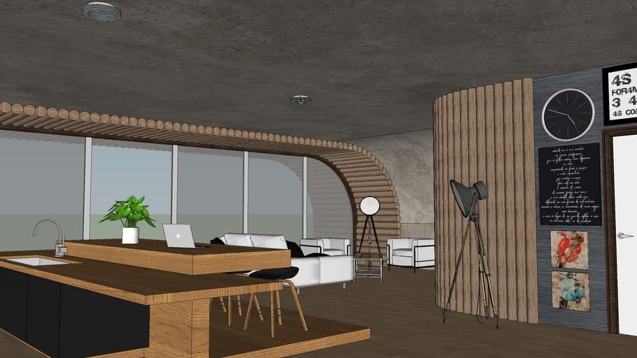 Modern Wood/concrete house
