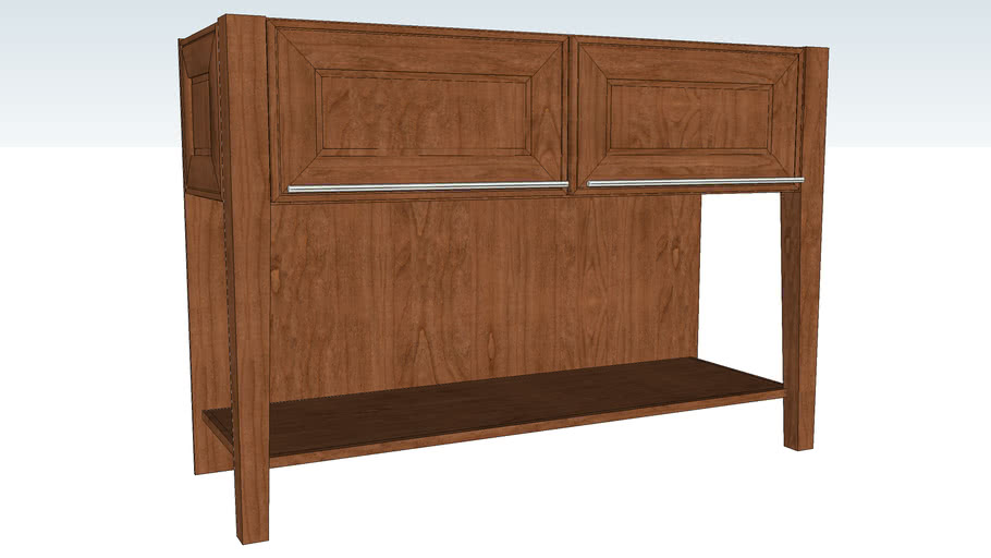 Island End Cap with Doors Tapered Leg