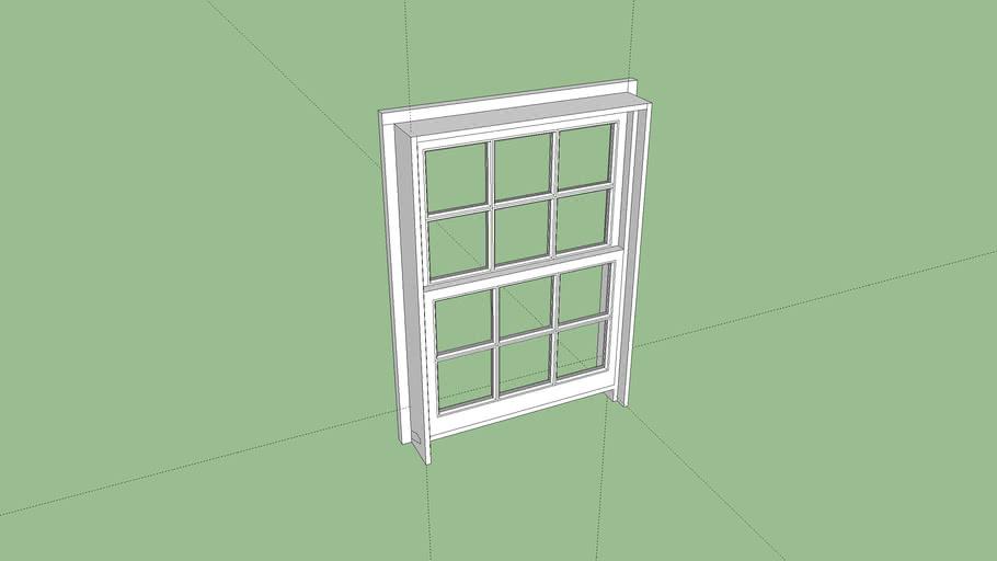 "double hung window 34.5""x48"""