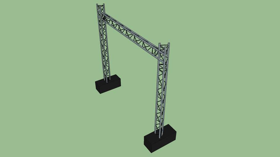 Truss bridge  4x3.71m with lest