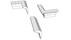 Gesso - Molduras, 3D