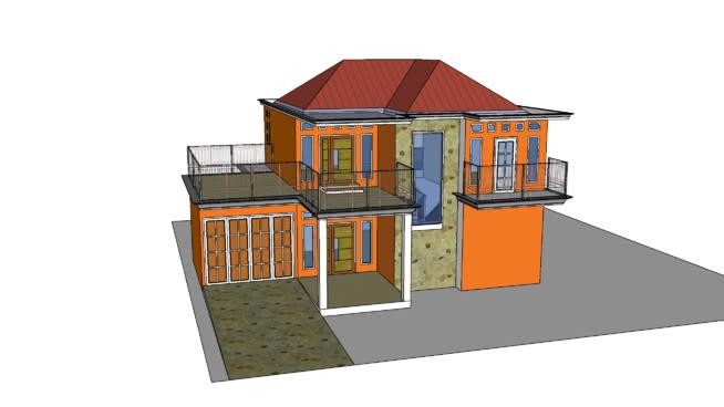 Rumah Minimalis 2 Lantai 3d Warehouse
