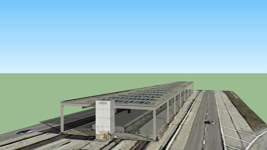 Rosemont CTA Blue Line Rail Pickup/Drop Off Station