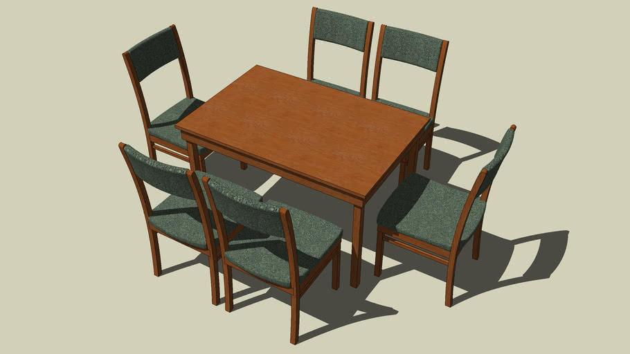 Esstisch mit 6 Stühlen_Version 2