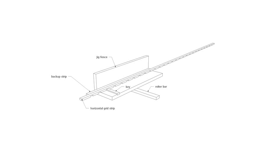 Fine Homebuilding Lap joint miter jig