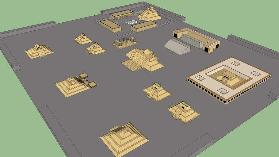 aztec city (temples and major buildings)
