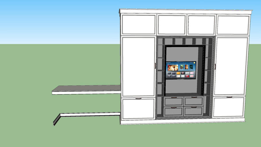 wardrobe tv desk