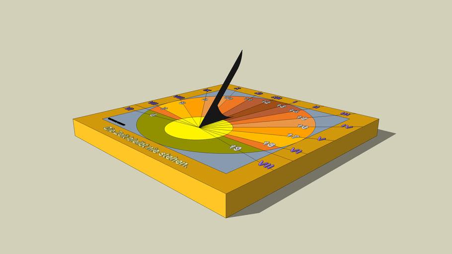 horizontale sonnenuhr