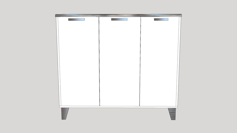 mueble de cocina metálico