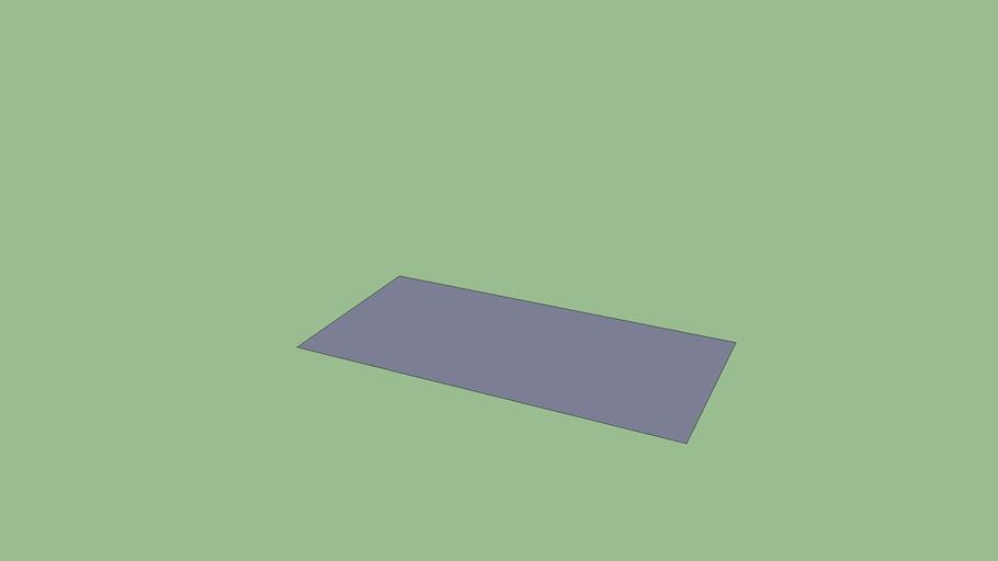 Téglalap (2mx1m)