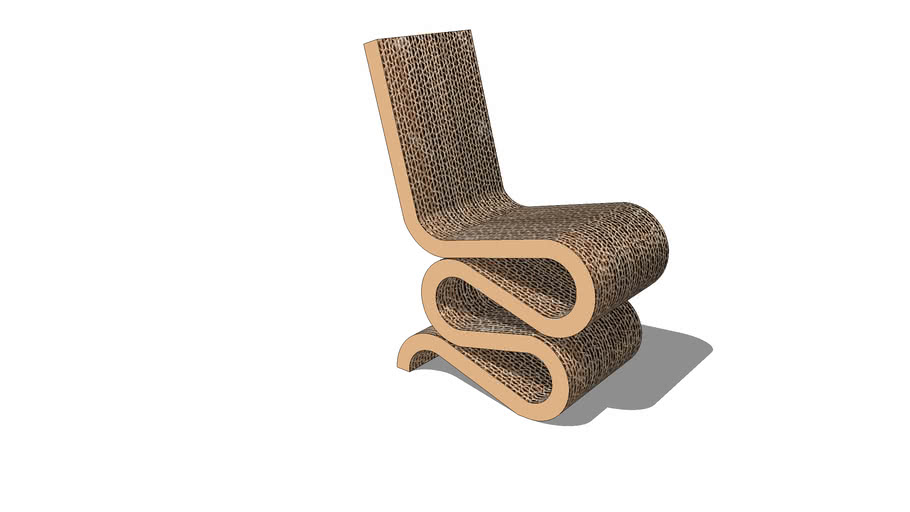 Frank Gehry 'wiggle' side chair