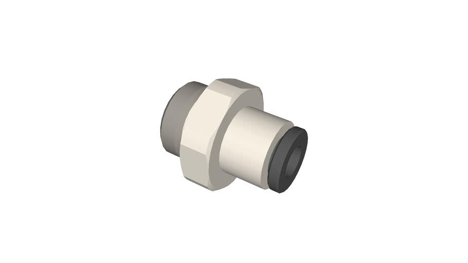 Piquage droit mâle cylindrique diamètre 4 - G1/8
