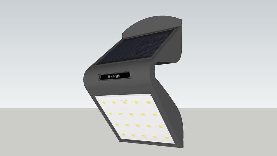OUTDOOR SOLAR WALL LIGHT LED LAMP - LAMPARA EXTERIOR SOLAR LED DE PARED