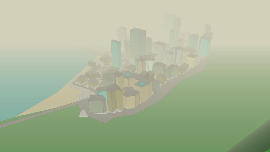 ciudad oculta por la niebla