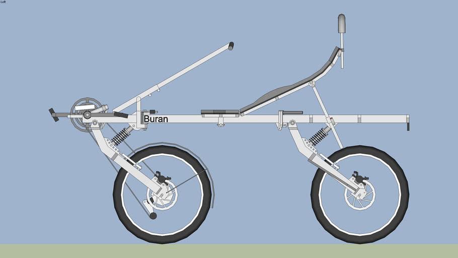 10. Recumbent bicycle Buran.