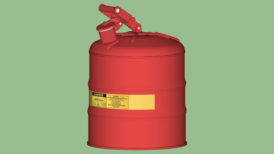 Safety First Series - Safety Can - Justrite® Type 1 Metallic - 5 gal. - Model 7150100