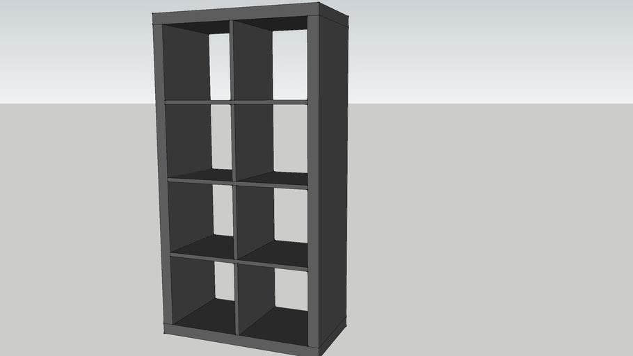 Expedit Tv Kast.Ikea Expedit Open Kast Ikea Expedit Open Cabinet 3d Warehouse