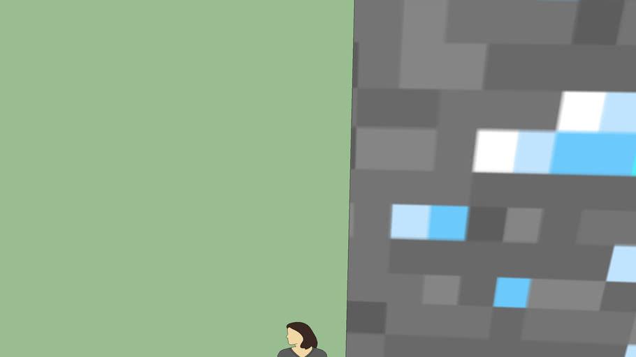 Giant Minecraft Diamond Block