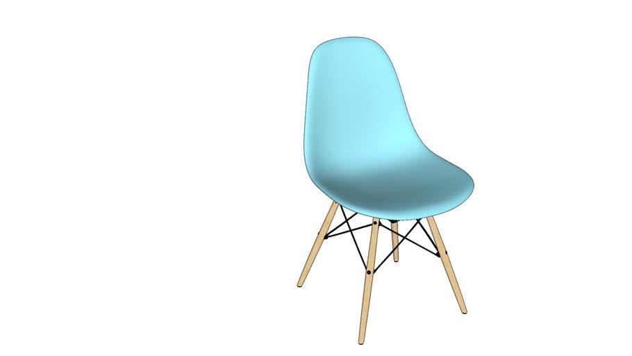 76. silla eames celeste claro