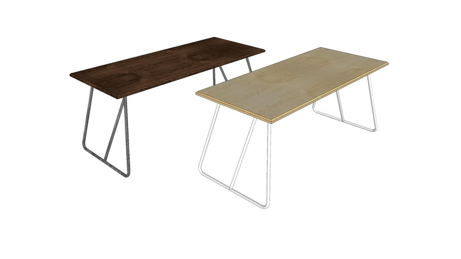 Trapeze Table - Contemporary Furniture by Liqui