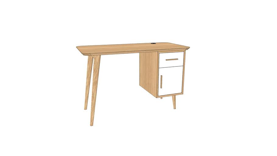 Bureau en chêne sur-mesure 120x60xh75 cm / Desk