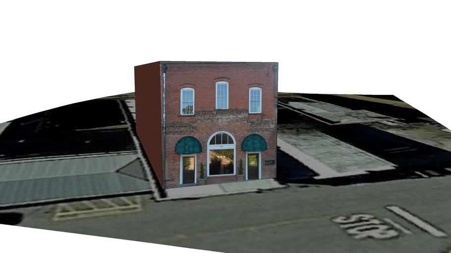 Jefferson Georgia Main Street in 3D - Ethridge Building