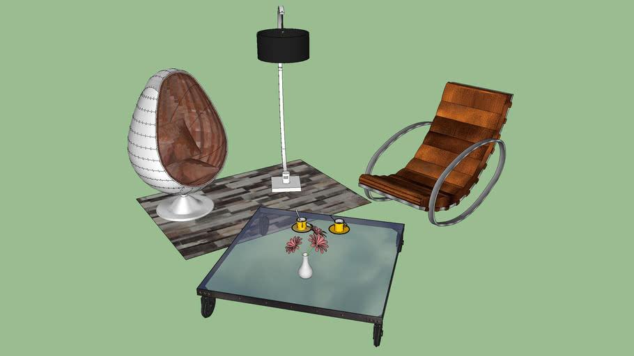 Petit salon lecture...version cuire et métal : Maisons du monde