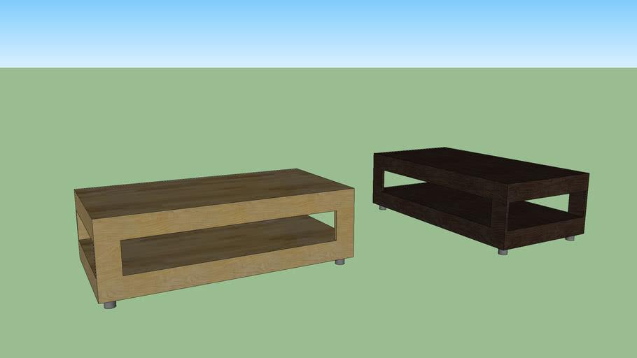 Frame coffe table. oak/fanèr and Walnut