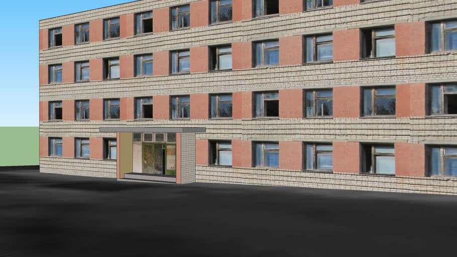 Общежитие №2 в в/г Чернобыль-2 , Hostel # 2  in Chernobyl-2
