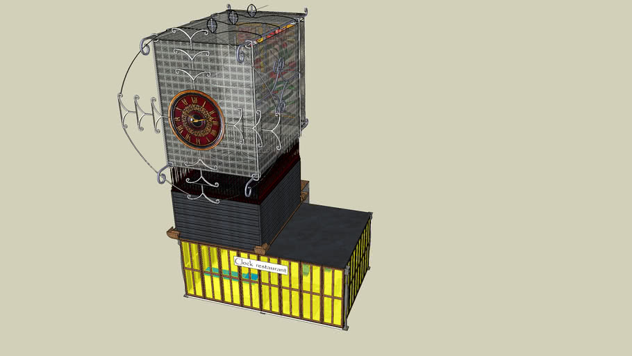 Detailed Clock Tower for the challenge
