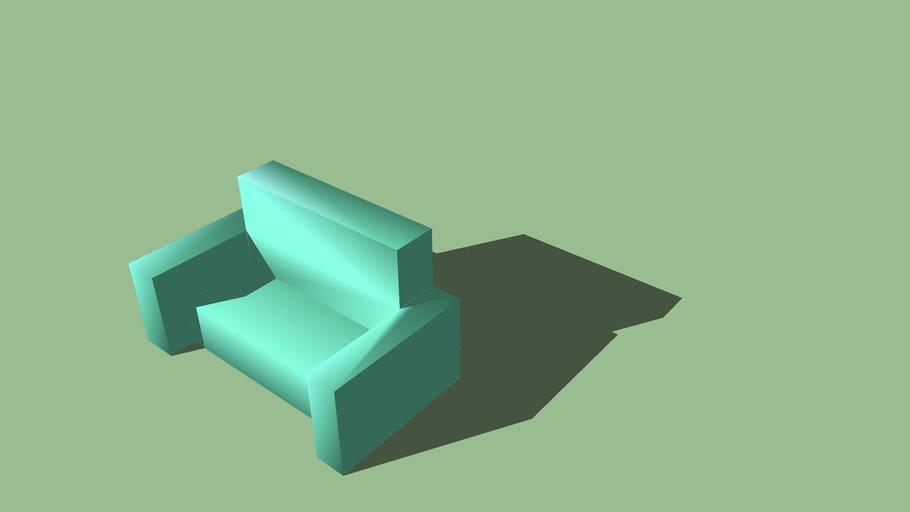 Aqua/light Cyan Sofa