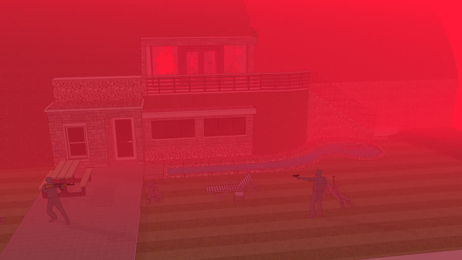 Fire Fight at a nice home (Warning: some blood) Updated (again!)