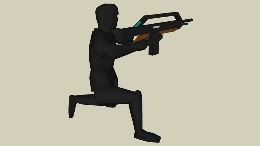 croucing/ blind firing NWC infantryman