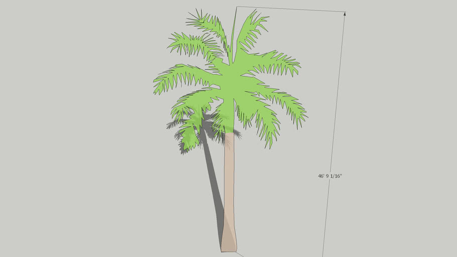 2D Schematic Palm Tree