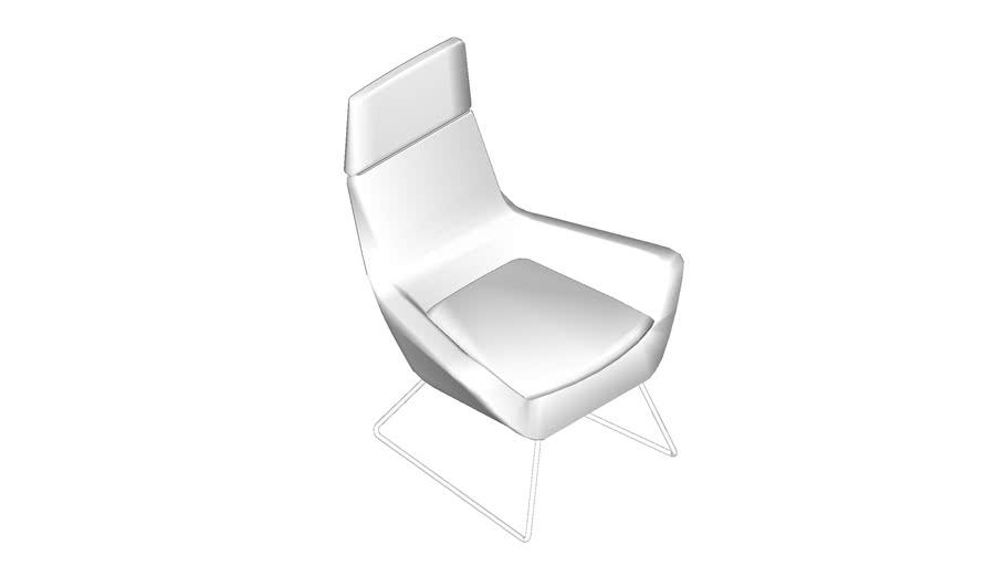 HighTower Happy High Back Lounge Chair w/ Sled Base