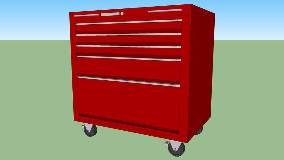 UC-091 - Under-bench Tool Storage Cart w/ 5 Drawers