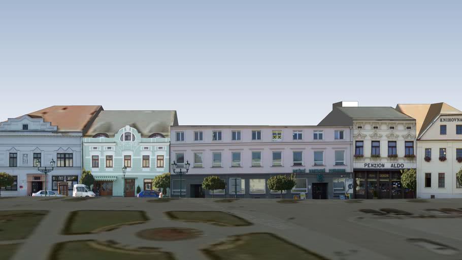 Měšťanské domy na Masarykově náměstí v Karviné-Fryštátě 01